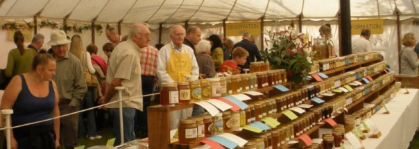 All kinds of honeys, wax and other hive products can be seen at the EBKA tent at the Essex County Show each September at Barleylands, near Billericay. Come down and have a look for yourself.