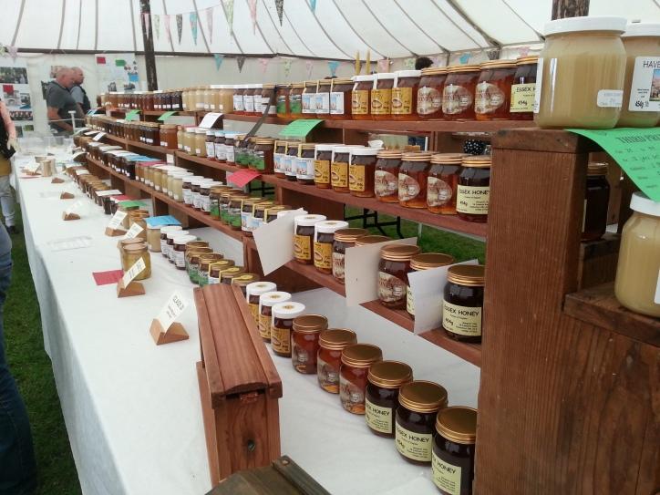 honey jars on display