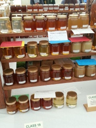 honey jars on display